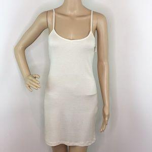 Tart Ribbed Cream Short Dress